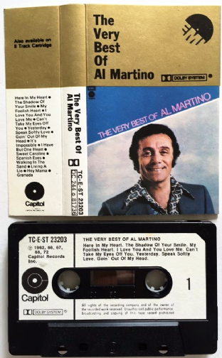 Al Martino - The Very Best Of Al Martino (Cassette Album) (EX/VG)